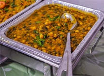 Indian ethnic food made with chickpeas and curry