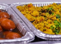 Indian ethnic food fried rice