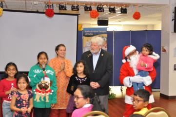 Allen Mayor Explains the Importance of Community Service to Youth at Radha Krishna Temple Dec 23rd Kids Helping Kids Event
