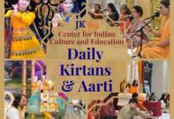 Daily Live Kirtans & Aarti from Radha Krishna Temple