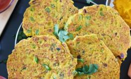 Savory Pancakes with Oats and Veggies